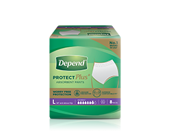 Depend Pants L for incontinence and bladder leakage protection